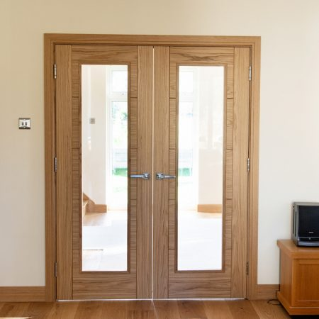 Bespoke Oak Internal Doors with Glass